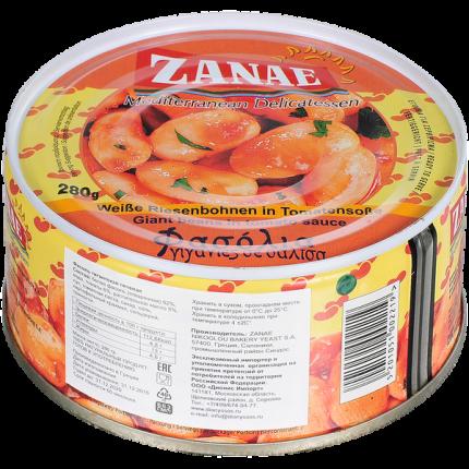 Фасоль Zanae гигантская печеная в томатном соусе 280 г