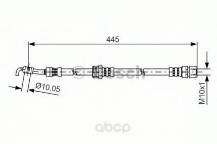 Шланг тормозной системы Bosch 1987481386