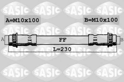 Шланг тормозной SASIC 6604031
