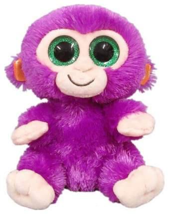 Мягкая игрушка ABtoys Обезьянка фиолетовая, 15 см