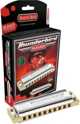 Губная гармоника диатоническая HOHNER Marine Band Thunderbird F low