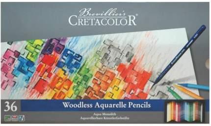 CretacoloR Акварельные карандаши без деревянной оболочки AQUA MONOLITH, 36 цветов