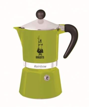 Гейзерная кофеварка Bialetti Rainbow зелёная на 6 чашек