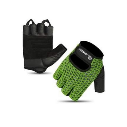 Перчатки для фитнеса Larsen 16-1961, зеленые/черные, S
