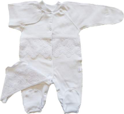Комплект детский 2 пр. Папитто с кружевом 31-5002н белый р.20-62