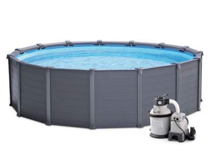 Каркасный бассейн Intex GRAPHITE GRAY PANEL 26384