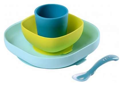Набор детской посуды Beaba 913428 3 шт Голубой