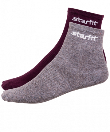 Носки StarFit SW-206, бордовые/серый меланж, 43-46 EU