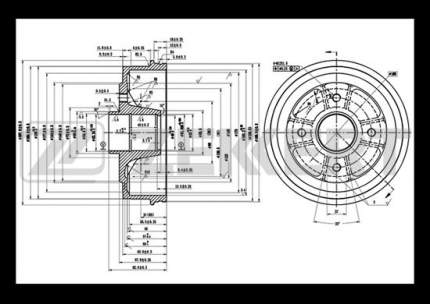 Тормозной барабан ZEKKERT BS-5288