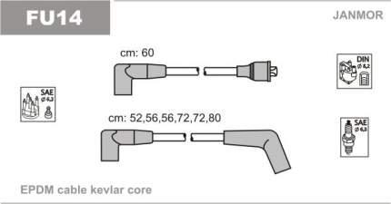 Комплект проводов зажигания JANMOR FU14