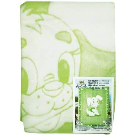 Одеяло детское байковое 100*140 Салатовый 1155