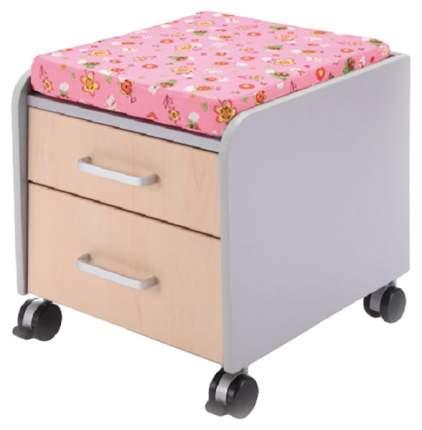 Тумбочка Comf-Pro BD-C2 розовый со зверями, серый, клен
