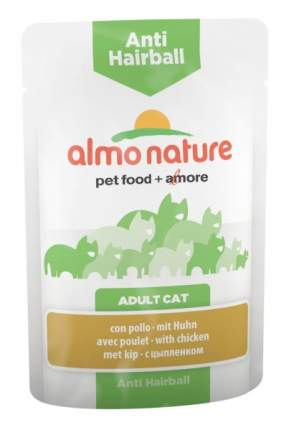 Влажный корм для кошек Almo Nature Holistic Anti Hairball, курица, 30шт, 70г