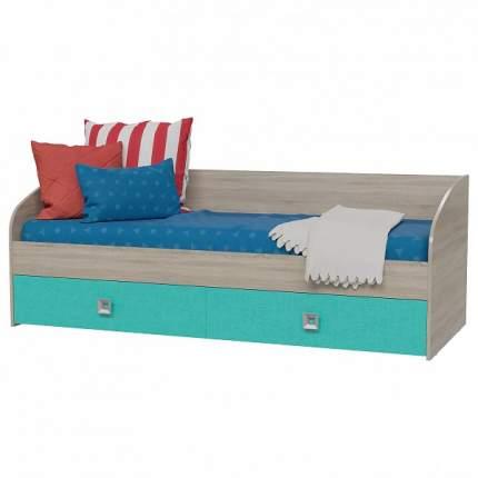 Кровать Гранд-Кволити Сити 4-2001 80х200 см, бежевый/голубой