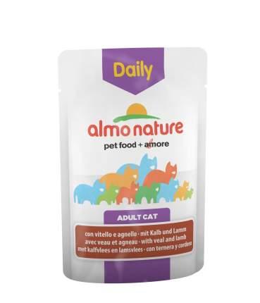 Влажный корм для кошек Almo Nature Daily Menu, телятина и ягненок, 70г
