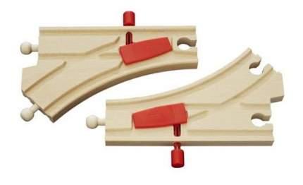 Железнодорожный набор Brio Ж/д полотно с переключателем направления 33344