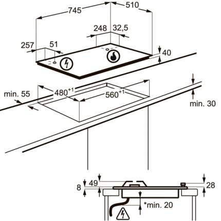 Встраиваемая варочная панель газовая Electrolux GPE373XX Silver