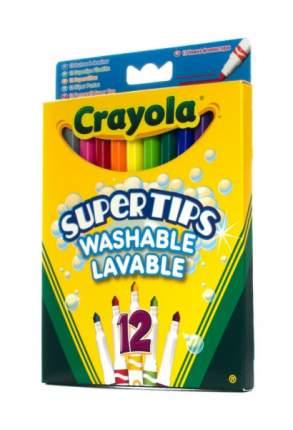 Crayola 12 тонких фломастеров супертипс ярких цветов