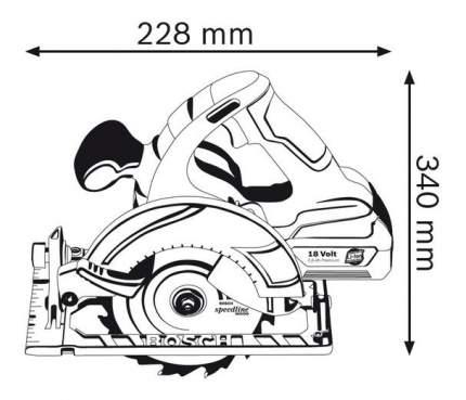 Аккумуляторная циркулярная пила Bosch GKS 18 V-LI 060166H006