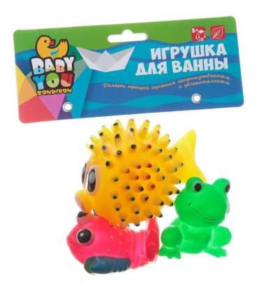 """Игровой набор для купания Bondibon """"Рак, лягушка, морской ёж"""""""