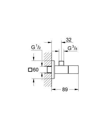 Вентиль угловой GROHE Universal Cube 22012000 хром