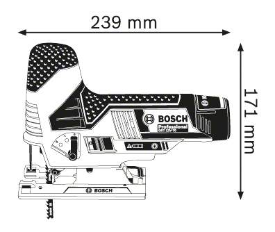 Аккумуляторный лобзик Bosch GST 10,8 V-Li 06015A1000