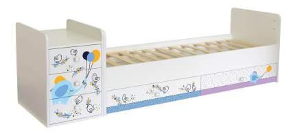 Кровать-трансформер Фея 1100 Слоник на шаре белый