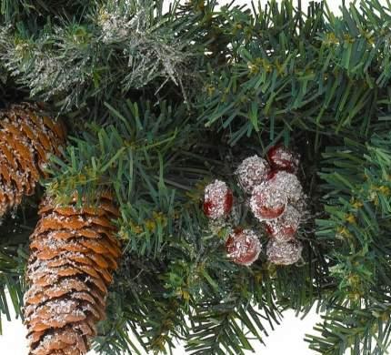 Kaemingk Венок Шервуд 40 см с шишками и ягодами, ПВХ 9683516