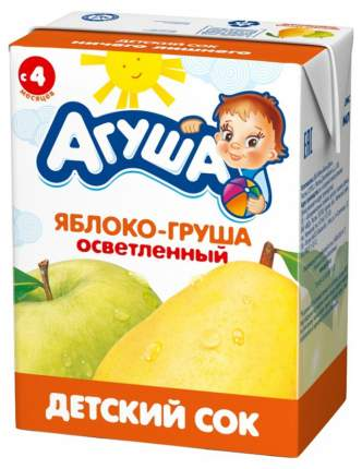 Сок Агуша Яблоко и груша с 4 мес 200 мл