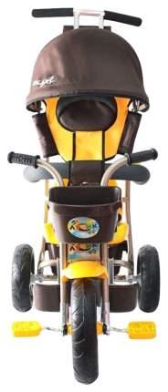 Велосипед трехколесный Galaxy Лучик с капюшоном коричнево-желтый