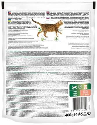 Сухой корм для кошек PRO PLAN Sterilised Optirenal, для стерилизованных, лосось, 0,4кг