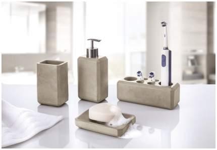 Стакан для зубных щеток Kleine Wolke Loft Stone Grey цемент Серый