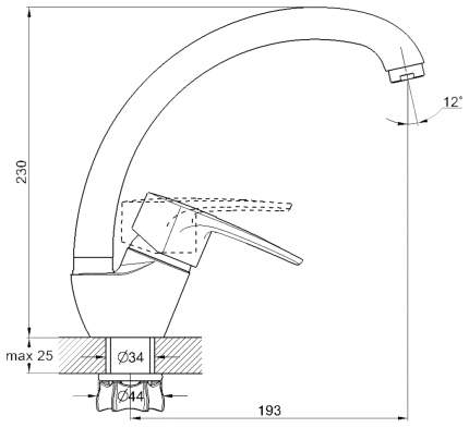 Смеситель для кухонной мойки G.lauf 8G4-A181KH