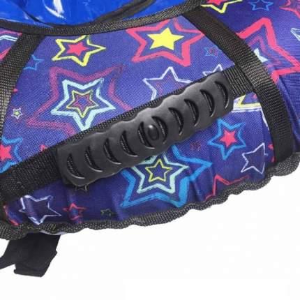 Тюбинг SnowDream 75см CH-75 Гламур Звезды фиолетовые, с ручками и светоотражателями