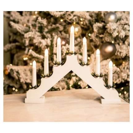 Kaemingk Светильник-горка Кристиан 40*30 см 7 электрических свечей, белый 540425
