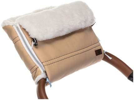 Муфта меховая для коляски Nuovita Alpino Lux Bianco бежевая