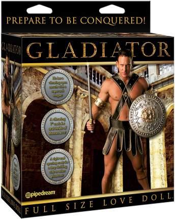 Кукла с вибрацией Pipedream Gladiator