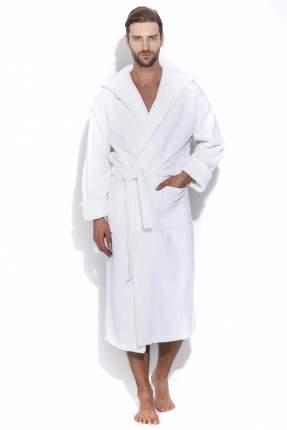Мужской махровый халат с капюшоном SPORT&Life (Е 901-1), цвет белый, размер 46-48