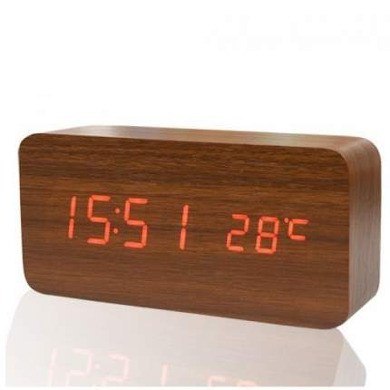 Настольные цифровые часы-будильник VST-862 (коричневые)