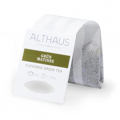 Чай зеленый в пакетах для чайника Althaus грюн матинэ 20*4 г
