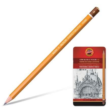 KOH-I-NOOR Набор карандашей чернографитных (2Н-8В) Art KOH-I-NOOR, 12шт.