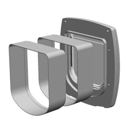 Туннель для дверей Ferplast SWING 3/5 (16,3 x 5 x 18,4 см, Белый)