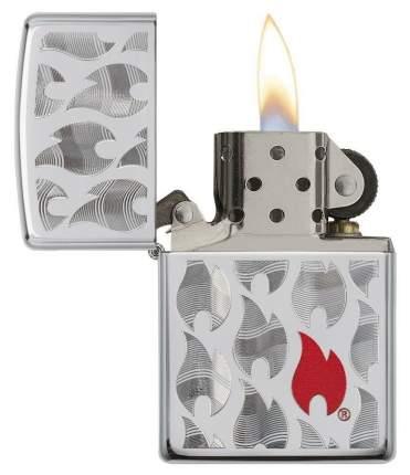 Зажигалка Zippo Flames Design 29678 High Polish Chrome