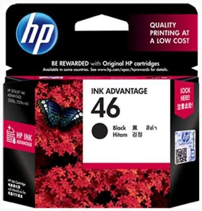 Картридж для струйного принтера HP 46 (CZ637AE) черный, оригинал