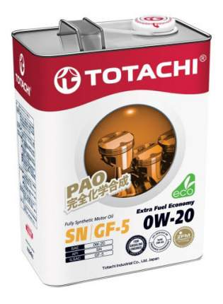 Моторное масло Totachi Extra Fuel Fully Synthetic SN 0W-20 4л