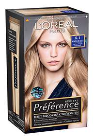 Краска для волос L'Oreal Paris Preference оттенок 8,1 Копенгаген