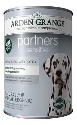 Консервы для собак ARDEN GRANGE, белая рыба, картофель, 395г