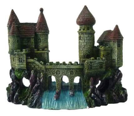 Грот для аквариума МЕЙДЖИНГ АКВАРИУМ Замок на реке, полиэфирная смола, 20х12х10 см