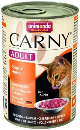 Консервы для кошек Animonda Carny Adult, говядина, курица, 6шт, 400г