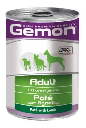 Консервы для собак Gemon Pate, паштет, ягненок, 24шт, 400г